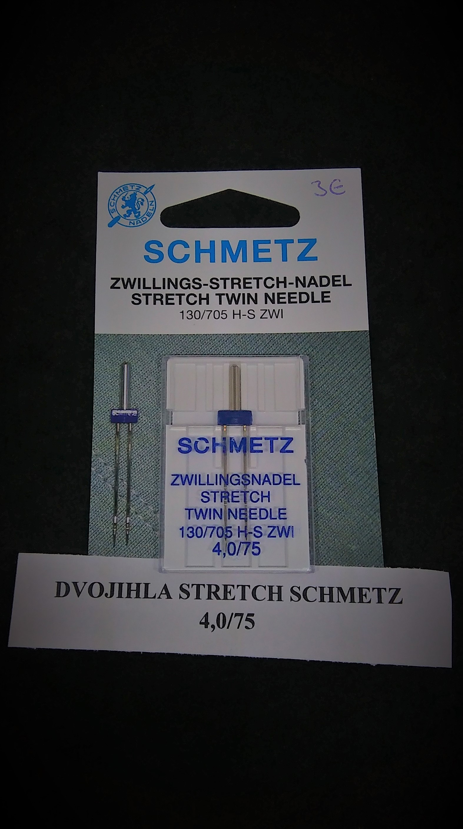 Dvojihla Schmetz Stretch 75/4,0