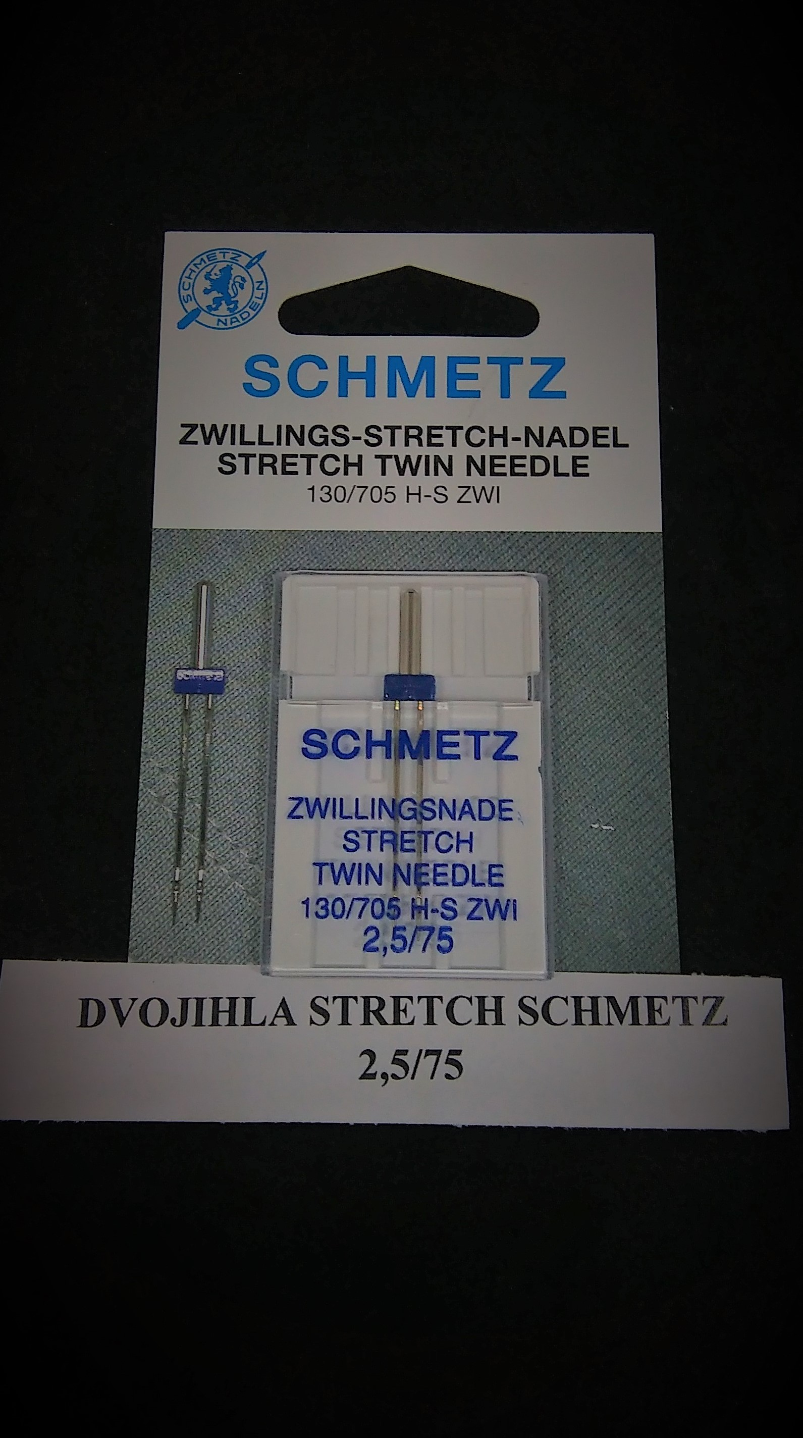 Dvojihla Schmetz Stretch 75/2,5